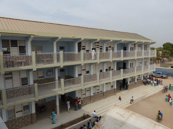 School built by the MRC Holland Foundation in The Gambia.